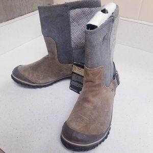 Women's Sorel Slimshortie Quaryfossil Boots 6.5